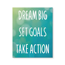 Quote Dream Big Best of Dream Big Set Goals Take Action' Motivational Quote 24x24 Canvas