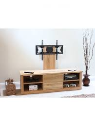 baumhaus mobel solid oak extra. Baumhaus Mobel Oak Mounted Widescreen TV Cabinet COR09E - Enlarged View Solid Extra