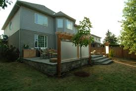wood deck decks vs patio for your lifestyle and outdoor designs concrete small deck with