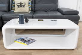 White Gloss Furniture Living Room The Seamless Curved Shape And White High Gloss Finish Of The