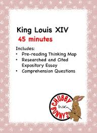 louis xiv teaching resources teachers pay teachers  king louis xiv expository essay