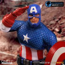one 12 collective deluxe clic capn america figure sdcc exclusive