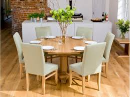 dining room 6 chairs place grey lather chairs and round dining table for 6 in minimalist dining room on laminate oak flooring plans