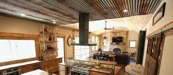 scenic corrugated metal ceiling basement