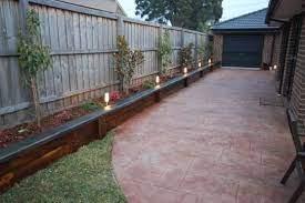 garden beds along fence