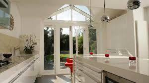 garden room extension london showing modern kitchen