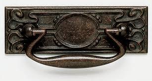 vintage drawer pulls. arts and crafts drawer pull- vintage copper pulls t