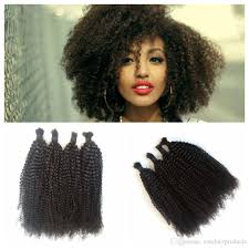 Afro Braid Hair Style virgin human hair bulk for braiding malaysian afro kinky curly 1219 by wearticles.com