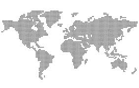 世界地図ドットデザインマップ ベクターイラスト素材 几何图案 世界