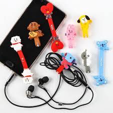 mykpop 2018 new bts bangtan boys bt21 small bags cartoon toy plush doll bag fans gift sa18033102