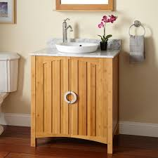 Bamboo Bathroom Sink 30 Trang Bamboo Vanity For Semi Recessed Sink Bathroom