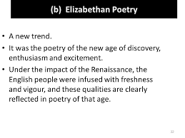 history of english literature virtual comsats islamabad ppt   b elizabethan poetry