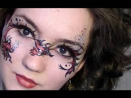fantasy princess face painting design tutorial step by step