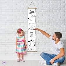 Canvas Height Chart Amazon Com Personalized Baby Growth Chart Ruler Wall Decor