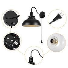 gooseneck wall lamp black industrial