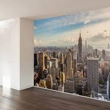 New York Skyline Wallpaper For Bedroom New York Wallpaper Mural Skyline Wall Mural Wallsaucecom