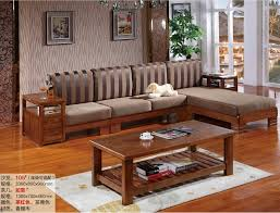 Wooden Living Room Chair New L Shaped Sofa Chaise Chinese Camphor Wood Living Room