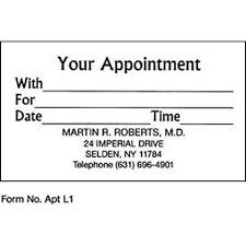 Doctor Appointment Card Template Appointment Card Magdalene Project Org