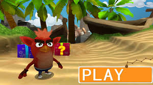 When Crash Bandicoot and Angry Birds collide into one thing ...