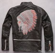 2018 indian head embroidery back marbobo classic motorcycle leather jackets 100 genuine leather from qltrade 2 268 35 dhgate com