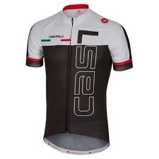 2019 Castelli Spunto White Black Cycling Jersey