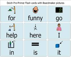 Dolch Pre Primer Flash Cards With Pictures