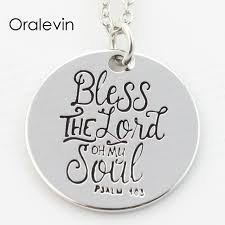 whole bless the lord oh my soul end pendant charms necklace lover gift jewelry 10pcs
