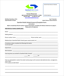 Employee Grievance Form Employee Grievance Form Template
