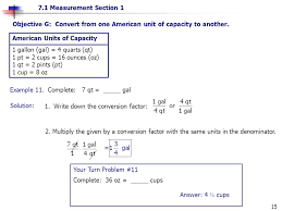 Microgram To Gram Conversion Chart Objective A Convert From One American Unit Of Length To