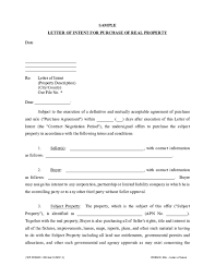 Pdf Sample Letter Of Intent For Purchase Of Real Property