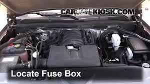 replace a fuse 2014 2018 chevrolet silverado 1500 2015 chevrolet locate engine fuse box and remove cover