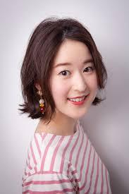 韓国ヘアスタイル 春の感じに溢れるワンランスボブエシュブラウン