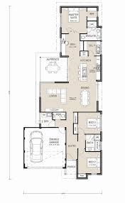 Narrow Home Plans Designs 2 Story House Plans Narrow Block New House Plan Single Story