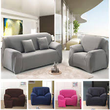 Image Suede 4seater Sofa Cover Slipcover Stretch Elastic Couch Furniture Protector Fit Ebay Fitted Sofa Slipcover Ebay