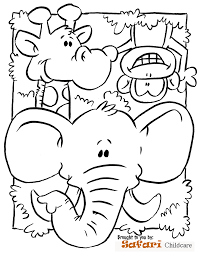 Small Picture Safari Coloring Page Preschool Submited Images Throughout Pages