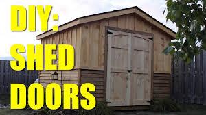 Double Shed Door Design Easy Build Shed Doors