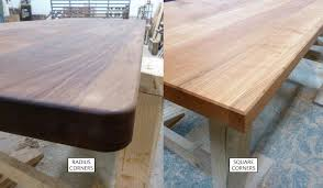 corners are typically either squared or radiused we can do radius corners with a radius of anywhere between 1 2 inch to 3 inches