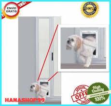 details about patio panel pet door dog cat sliding glass aluminum large flap exterior doggie