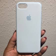 Light Blue Silicone Apple Case Apple Iphone 8 Silicone Case In Light Baby Blue Depop
