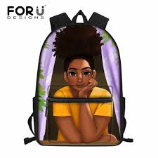 <b>FORUDESIGNS</b> Students Preppy <b>School</b> Bags for Kids Black Art ...