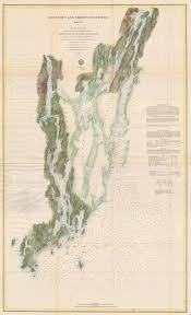 Tide Chart Kennebec River Bath Maine 1862 U S Coast Survey Map Of The Kennebec River And Sheepscot River Maine Ebay