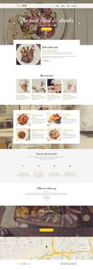 Restaurant Website Templates Adorable Free One Page Restaurant Template PSD Website Design Pinterest