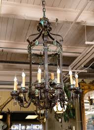 antique wrought iron chandelier from greenwich ct estate