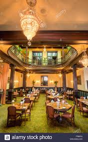 ahwahnee hotel dining room. Dining Room Of The Historic Geiser Grand Hotel In Baker City, Oregon. - Stock Ahwahnee