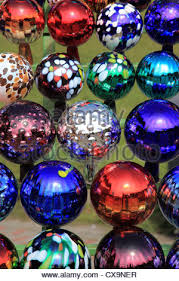Glass Balls For Decoration collection of colored glass balls decoration in garden Photo by 62
