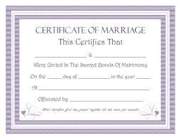 Marriage Certificate Template Microsoft Word Keepsake Marriage