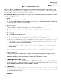 Example Of Catering Contract 17 Printable Catering Contract Pdf Forms And Templates