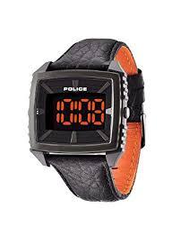 police men s quartz watch white dial digital display leather police men s quartz watch white dial digital display leather pl 13890jpbu 02