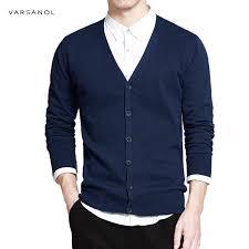 Varsanol Cotton Sweater Men <b>Long Sleeve</b> Cardigan Mens <b>V Neck</b> ...