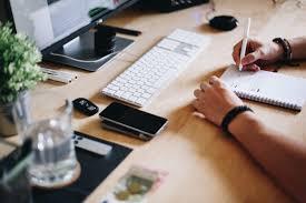Designer Stock Photo Designer Workplace Working On Website Layout Free Stock